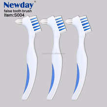 good selling double sided Tooth brush for dentures cleaning false teeth brush