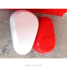 fiberglass modern round oval leisure pebble shaped chair