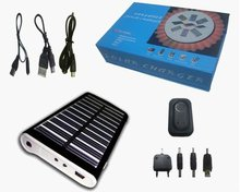 2012 Hot selling 1800 mAh lithium-ion battery capacity energy conservation and portable solar charger