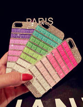 New Luxury Bling Crystal Diamond Rainbow Mobile phone Case Cover for Iphone 5 5s 6 6s