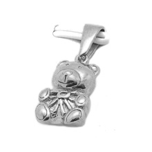 Olivia New Arrivals Silver Lovely Animal Pendant Stainless Steel Bear Jewelry
