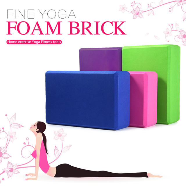 Hot Sale Yoga Block Brick Foaming Foam Home Exercise Practice Fitness Health Gym Practice Tool Anti-static EVA 6 Color 23*15*7.5