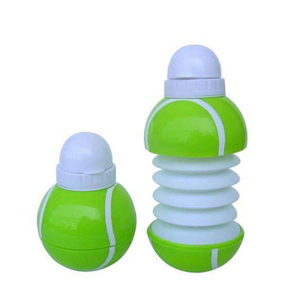 OEM hot design low cost 500ml collapsible plastic water bottle cap push pull