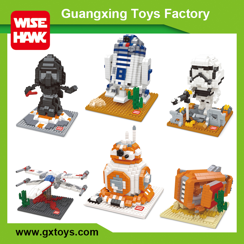 Wise Hawk factory connection diamond brick toys plastic building blocks for kids
