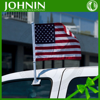 hot selling cheap national small 100% polyester car mirror usa flag
