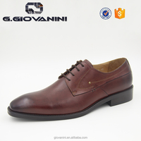 2016 perforation brown quality leather luxury brand man laceup formal dress leather oxford shoes
