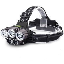 Head Torch,Headlamps Flashlight with 5 LED,USB Charge,6 Modes Headlight,15000 Lumens Helmet Light for Camping running