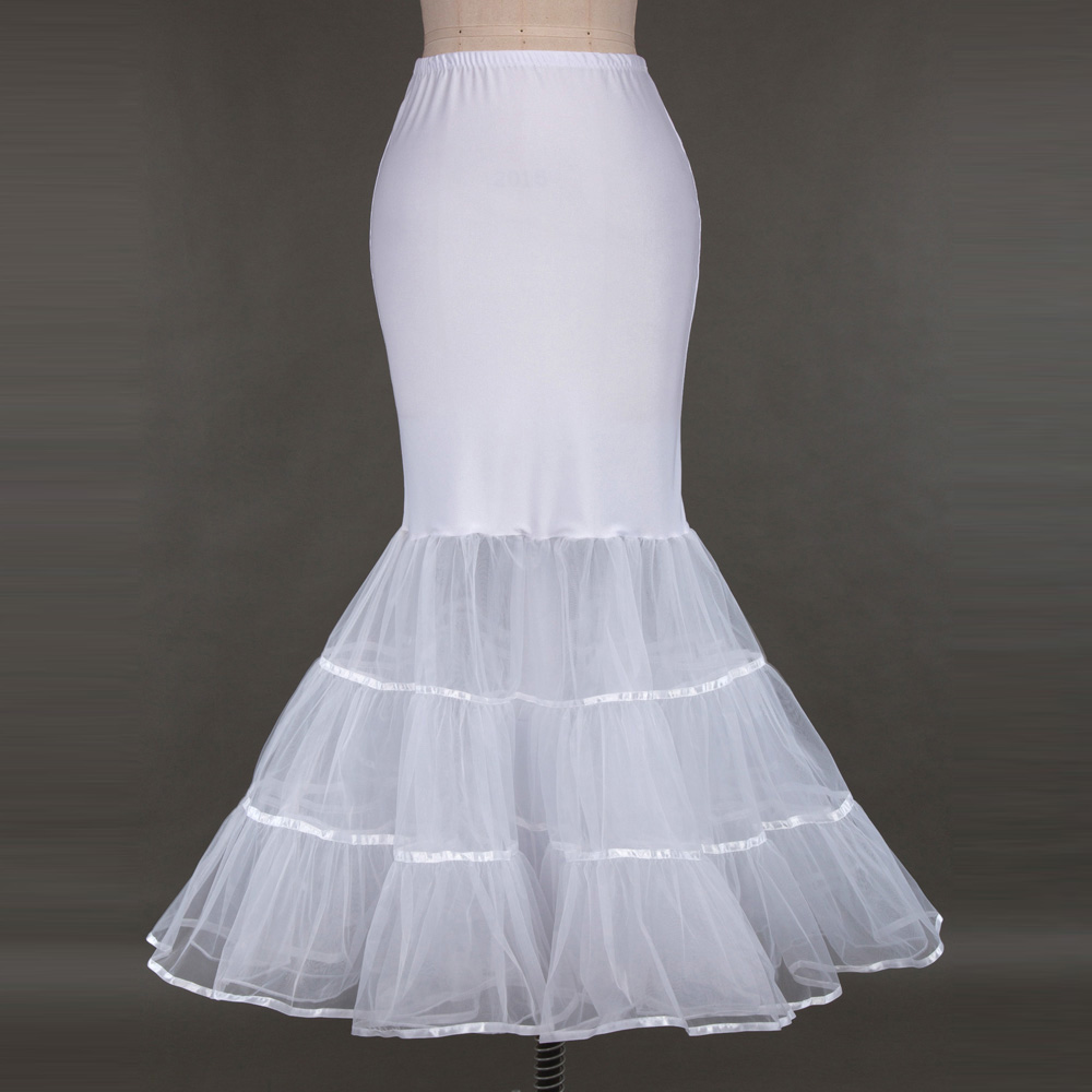 Kate Karin Womens Floor Length White Retro Vintage Dress Crinoline ...