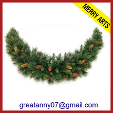 Large Luxury 9FT Artificial Christmas Garland Xmas Wreath Christmas Decorations
