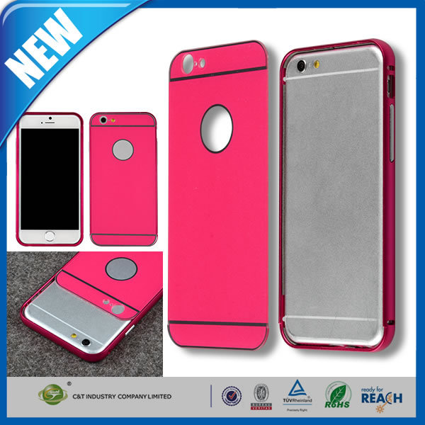 C&T Aluminum Metal Bumper Frame With Mirror Back Cover Shield Case For iPhone 6 Plus 5.5""
