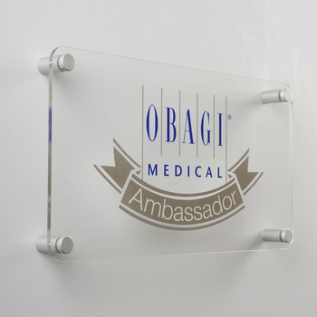 Acrylic wall mount sign acrylic wall plaque sign