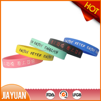 cancer silicon bracelet from china & diabetes silicone bracelet