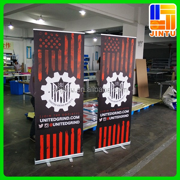 Roll up banner, pull up banner, vertical banner size
