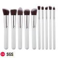 Sofeel 2018 10Pcs Cosmetic White Makeup Brush Set