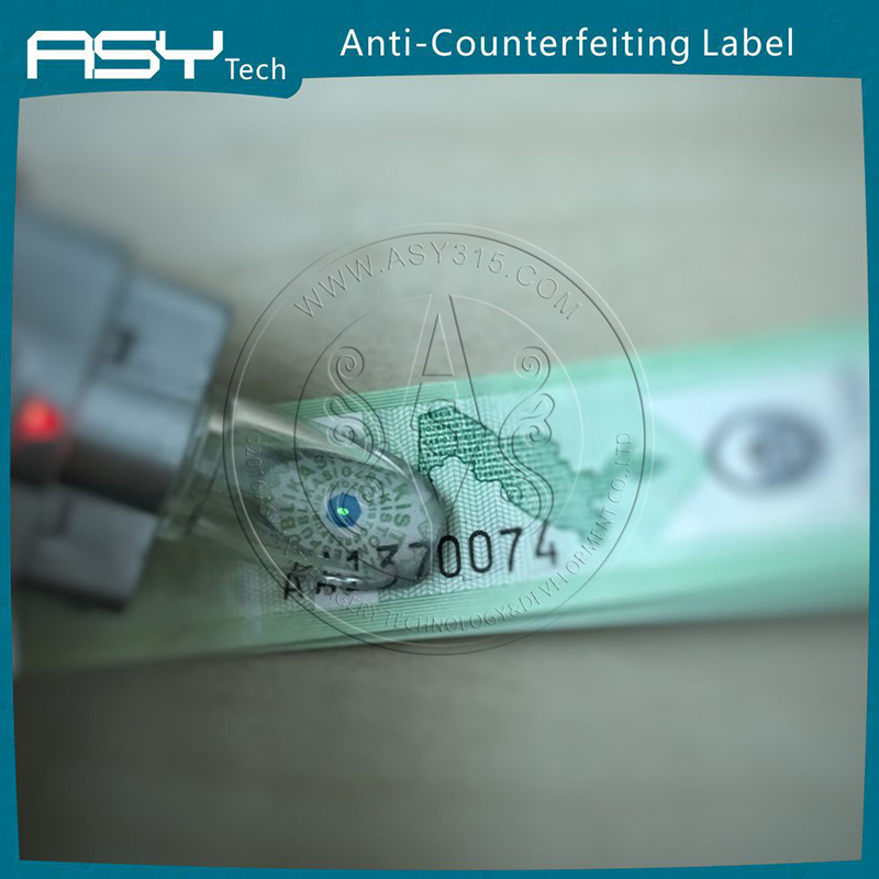 ASY roll printing machine label for drink security label, red wine secuirty labels