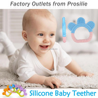 Hot Selling Wholesale Cute silicone baby teether