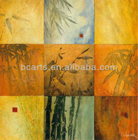 Wall Arts Bamboo Oil Painting
