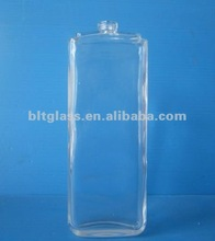 50ml clear tall square perfume glass bottle