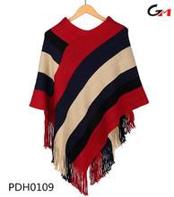 young ladies young girl light fashion acrylic cotton poncho sweater