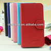flip leather case with card holder for samsung galaxy s4 mini