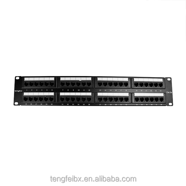 rj45 48port cat6 unshielded utp feed