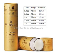 0.3oz 0.5oz 1oz 1.5oz 2oz customized eco friendly push up paper tube packaging for lip balm/ deodorant stick