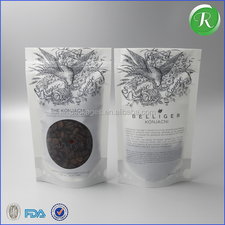 Alibaba accept custom flat bottom bag ziplock nuts printed food bags