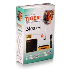 Tiger Z400 Pro hd 1008p digital satellite tv receiver with forever iks