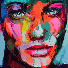 Manufacturer Wholesale High Quality Abstract Portrait Knife Painting Abstract Face Oil Painting For Wall Decoration Artwork