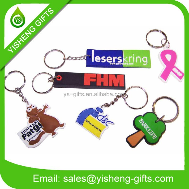 Soft PVC Giveaway key ring clip wholesale mini plant mini tree pet keychain