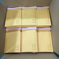 Good package white and Yellow color kraft bubble bag jiffy bag with easy tear strip