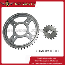KINGMOTO-0120RW TITAN150Top quality Motorcycle sprocket bicycle sprocket sizes