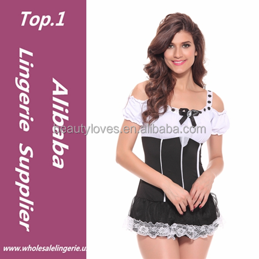 Sexy Girls Franch Maid Of halloween Sexy Dresses,Adult Shop French Maid High Quality Uniform Dress