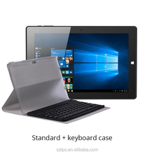 2 in 1 convertible laptop 10.1 inch 1280*800 win 10 with magnetic suction keyboard