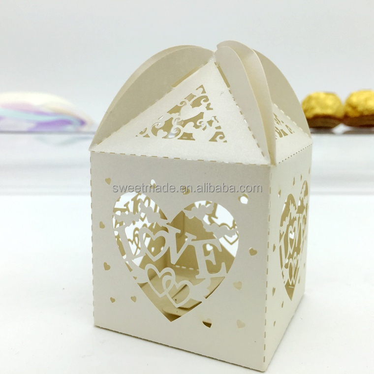 custom paper baby white candy box decoration wholesale