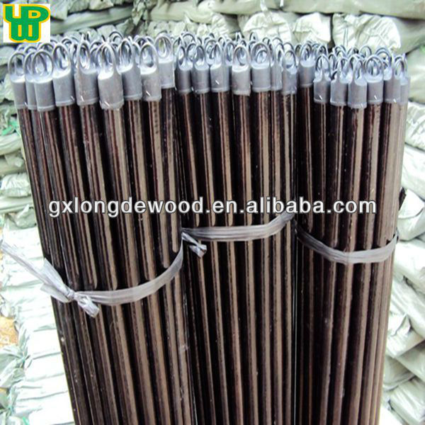 plastic coated wooden handle for hard bristle broom