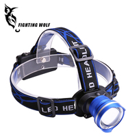 Waterproof adjustable rechargeable XML 1000 lumens T6 10W led headlight led headlamp