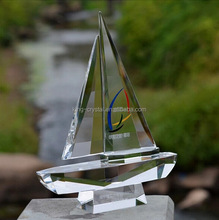 K9 Fashion crystal sailing boat award glass ship trophy customized corporate gift