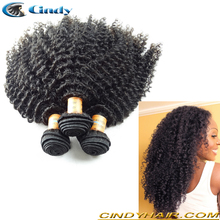 unprocessed virgin real brazilian kinky curly hair weave bundles for african american