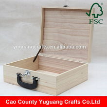 Customized Unfinished Portable Wooden Case