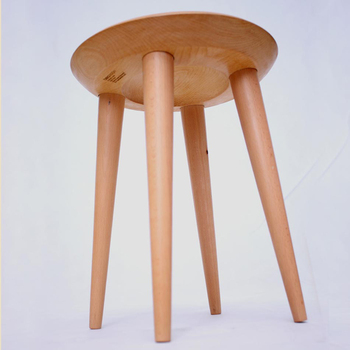 Beech wood chair Home Stool wooden chair living room without armchair