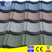 Hangzhou color stone sand versatile roof/stone chip coated metal roofing tiles