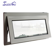 Exquisite aluminum chain winder awning window with clear tempered glazed
