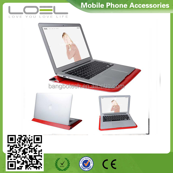 wholesale price leather sleeve for macbook 13.3 inch case