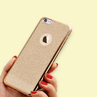 Hot selling glitter bling case for Iphone 7 electroplated TPU designer for iphone case