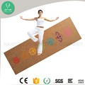 Alibaba manufacturer good quality Best material large cork rubber yoga mat