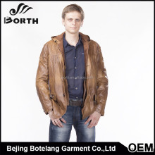 High quality coat blazer man clothing with factory price hunting leather jackets