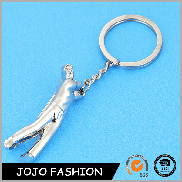 2016 Fancy Cheap customized design engraved golf metal key chain key holder