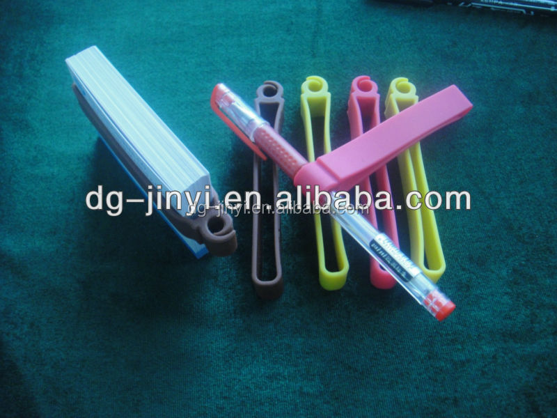 rubber silicone pen holder for promotional gifts