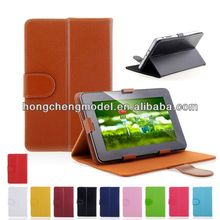 Clear Color Universal Leather Smart Covers Cases For 7'' inch Tablet